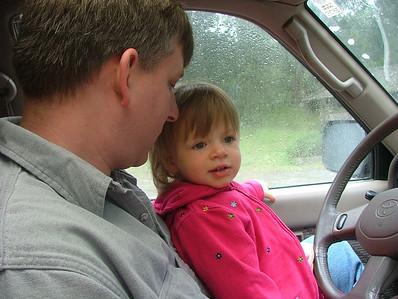 Behind the wheel already