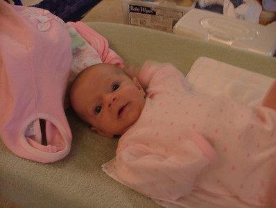 Kickin' on the changing table