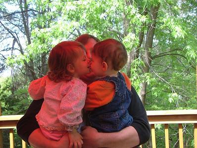 Sam kisses Benjamin
