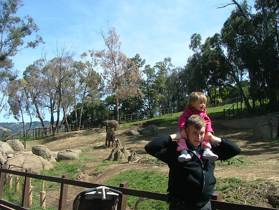 Shoulder ride and elephants