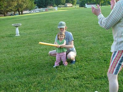 Sammy takes a swing