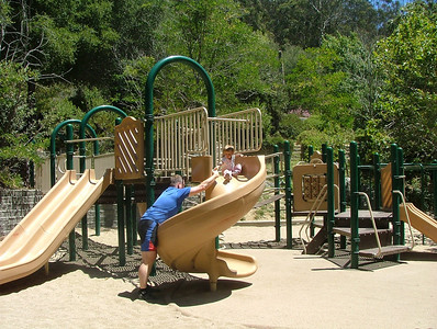 Sliding down at Alvarado Park