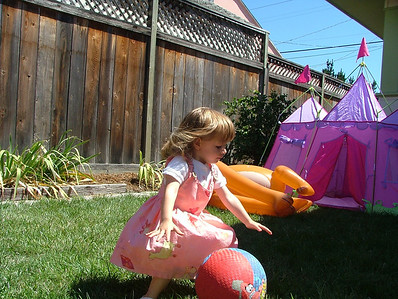 Soccer ball and princess castle