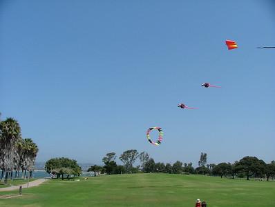 Sam loved the kites at Mission Bay