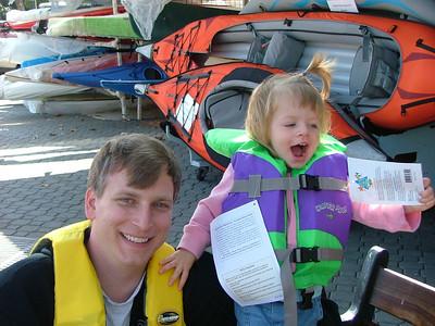 kayaks and PFDs