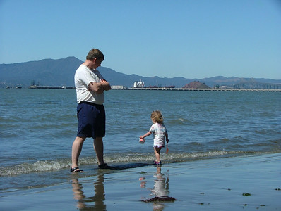 Sam and Dad on Beach