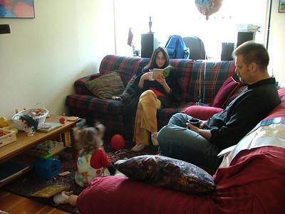 Sam, Sigal and Scott enjoy some time together.