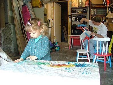 Father and daughter painters