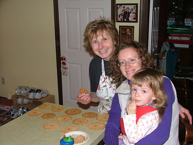 Making Pizzelles with Mom-mom