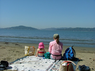 The beach at Point Richmond, looking at the SF Bay