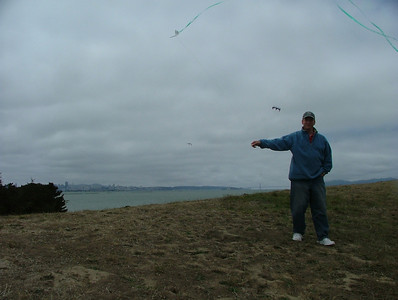 Kite-flying at the Berkeley Marina