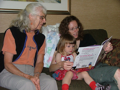 Reading Bad Kitty with Grand-mere in Iron Mt., MI