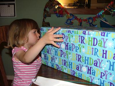 Birthday box from Mom-mom and Granddaddy