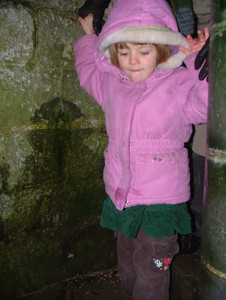 Heading down into the dungeon at Pevensey Castle