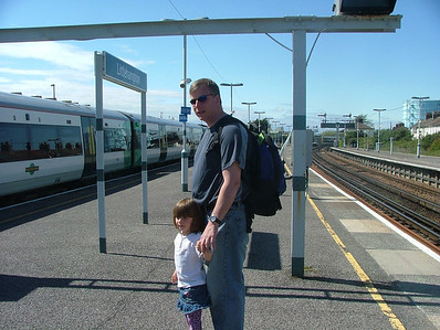 Waiting for the train in Littlehampton