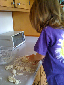 Playing with salt dough