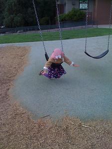 Swinging at Live Oak Park