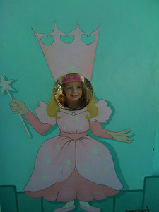 Sam as Glinda at Fairyland