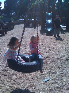 Tire swing at Aquatic Park