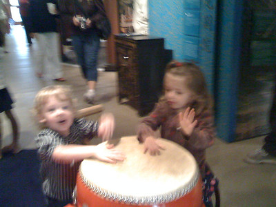 Sam and Trina drumming