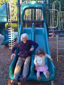 Sliding with Grand-mere