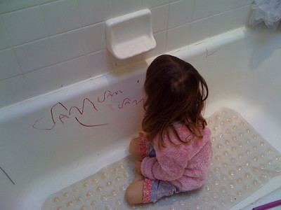 Bathtub writing