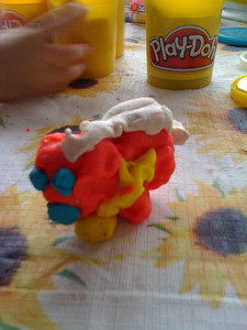 Play dough dog
