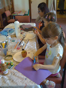 Craft table at Hove Home Ed