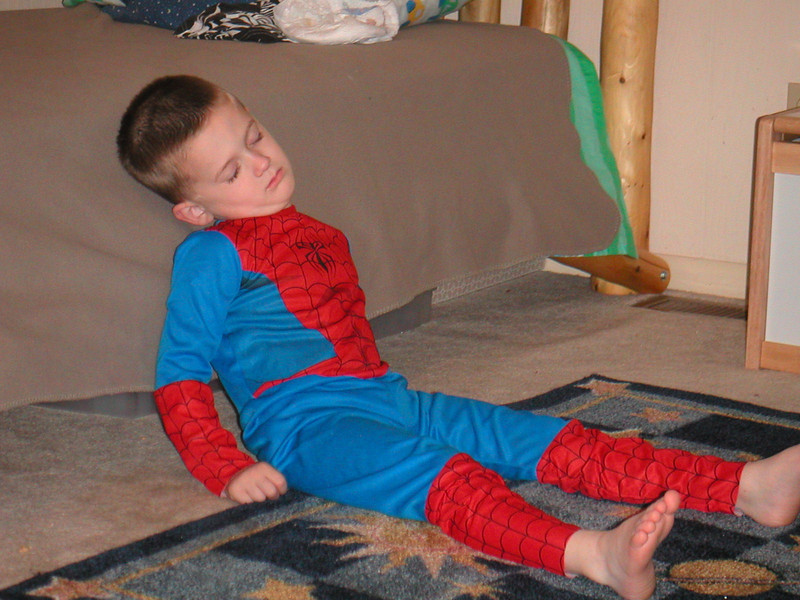 Spider Man has hit the wall. Sam