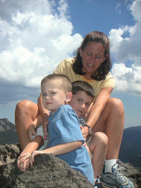 Sam, Jake, Kathy - Rocky Mountain National Park