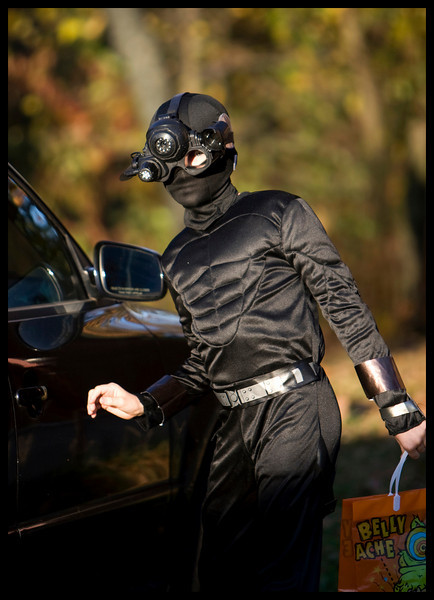 Ninja Outfit - $14<br /> Trick or Treat Bag (X-Tra Large) $2<br /> Night Vision Goggles - $64<br /> Aunt Gretchen driving me around to all the really good candy spots - Priceless