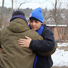 The search for the missing Fitchburg boy Jeremiah Oliver continued on Saturday and this time is was only a small group that came out to help. Jeremiah's dad Jose Oliver gets a hug from some the people that came out to help when he showed up to the seach. SENTINEL & ENTERPRISE/JOHN LOVE