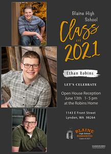 Ethan Robins Grad Announcements - back