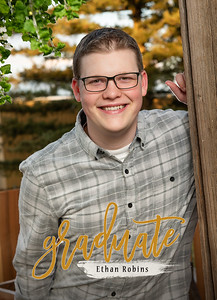 Ethan Robins Grad Announcements - front