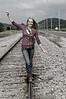 013a Shanna McCoy Senior Shoot - Train Tracks (nik b&w part desat)