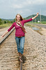 014 Shanna McCoy Senior Shoot - Train Tracks
