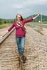 014 Shanna McCoy Senior Shoot - Train Tracks