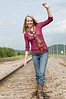 021 Shanna McCoy Senior Shoot - Train Tracks