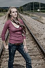 002a Shanna McCoy Senior Shoot - Train Tracks (brill-warm)(nik b&w part desat)