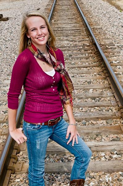 006 Shanna McCoy Senior Shoot - Train Tracks