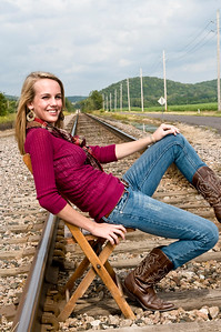 007 Shanna McCoy Senior Shoot - Train Tracks
