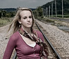 002b Shanna McCoy Senior Shoot - Train Tracks (brill-warm)(nik b&w part desat) crop