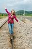 017 Shanna McCoy Senior Shoot - Train Tracks