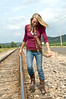020 Shanna McCoy Senior Shoot - Train Tracks