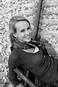 009a Shanna McCoy Senior Shoot - Train Tracks (nik b&w)
