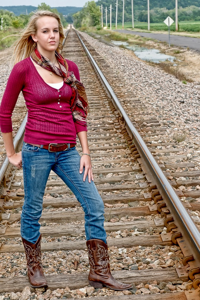 001 Shanna McCoy Senior Shoot - Train Tracks (plitz lucas)