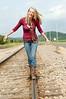 019 Shanna McCoy Senior Shoot - Train Tracks