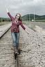 017a Shanna McCoy Senior Shoot - Train Tracks (nik b&w part desat)