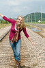 015 Shanna McCoy Senior Shoot - Train Tracks