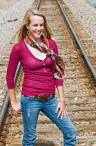 004a Shanna McCoy Senior Shoot - Train Tracks crop